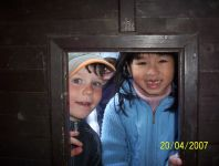 Skřítek v domku ve školce u pošty v Klatovech